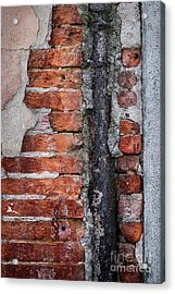 Acrylic Print featuring the photograph Old Brick Wall Fragment by Elena Elisseeva