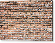 Acrylic Print featuring the photograph Old Brick Wall by Jingjits Photography