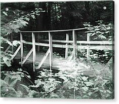Old Bridge In The Woods Acrylic Print