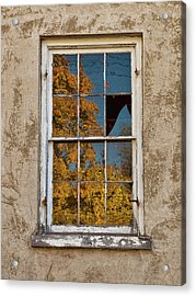 Old Broken Window Acrylic Print