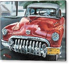 Old Buick Acrylic Print by Antonio Molina