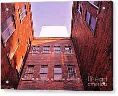 Old Building In The Pointe Acrylic Print by Reb Frost