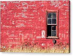 Old Building Red Wall Acrylic Print