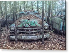 Old Caddy Acrylic Print