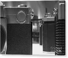 Old Camera Line-up Acrylic Print by Yali Shi