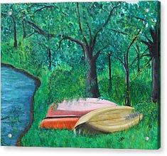 Old Canoes Acrylic Print