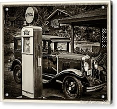 Old Car @ Gas Station Acrylic Print