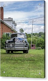 Old Car In Front Of House Acrylic Print by Edward Fielding