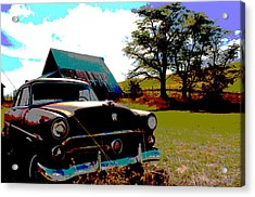 Old Car Acrylic Print by Jean Evans