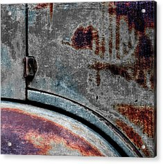 Acrylic Print featuring the photograph Old Car Weathered Paint by Carol Leigh