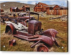 Old Cars Bodie Acrylic Print by Garry Gay