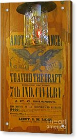 Old Cavalry Draft Poster Acrylic Print by John Malone