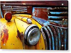 Old Chev Truck On Hwy 69 Acrylic Print by John  Bartosik