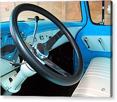Old Chevy Steering Wheel Acrylic Print