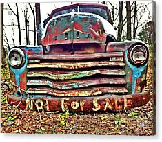 Old Chevy Truck With Graffiti Acrylic Print