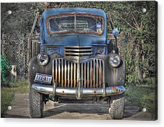 Acrylic Print featuring the photograph Old Chevy Truck by Savannah Gibbs