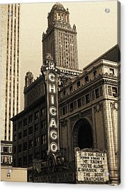 Old Chicago Theater - Vintage Art Acrylic Print