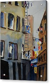 Old Chinatown Lane Acrylic Print by Tom Simmons