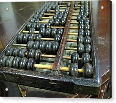 Old Chinese Abacus Acrylic Print