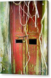 Old Chinese Village Door Eleven Acrylic Print by Kathy Daxon
