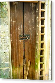 Old Chinese Village Door Series Eight Acrylic Print by Kathy Daxon