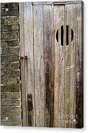 Old Chinese Village Door Series Fifteen Acrylic Print by Kathy Daxon