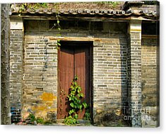 Old Chinese Village Door Series Sixteen Acrylic Print by Kathy Daxon