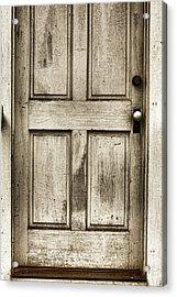 Old Church Door Acrylic Print by Bonnie Bruno