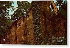 Old Church Ruins  Acrylic Print by Ruth  Housley