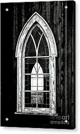 Acrylic Print featuring the photograph Old Church Window by Brad Allen Fine Art