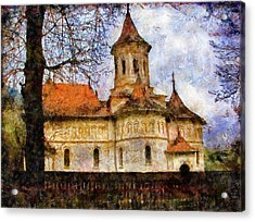 Old Church With Red Roof Acrylic Print