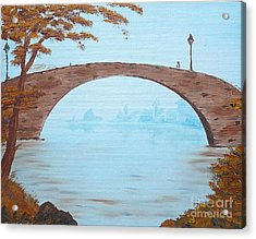 Old City Bridge Acrylic Print by Birgit Moldenhauer