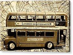 Old City Bus Tour Acrylic Print