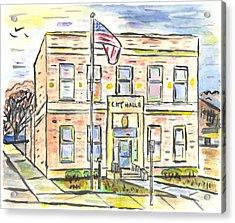 Old City Hall Acrylic Print by Matt Gaudian