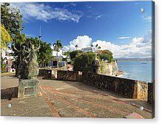 Old City In The Caribbean Acrylic Print by George Oze