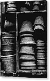 Acrylic Print featuring the photograph Old Clay Pots by Edward Fielding