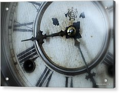 Old Clock Face Acrylic Print by Lois Lepisto