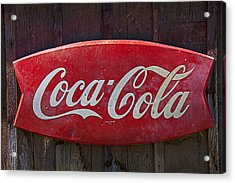 Old Coca-cola Sign On Barn Acrylic Print by Garry Gay