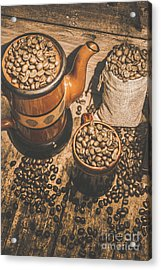 Old Coffee Brew House Beans Acrylic Print by Jorgo Photography - Wall Art Gallery