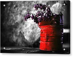 Old Coffee Can Acrylic Print