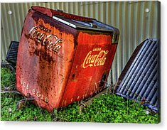 Old Coke Box Acrylic Print