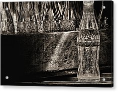 Old Coke Sepia Acrylic Print by JC Findley