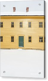 Old Colonial Era Period House In Winter Acrylic Print by Edward Fielding