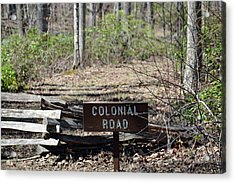 Old Colonial Road Acrylic Print by Bruce Gourley