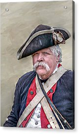 Old Colonial Soldier Portrait Acrylic Print by Randy Steele