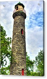 Old Coney Island Lighthouse Acrylic Print by Mel Steinhauer