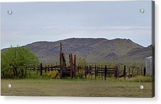 Old Corral Acrylic Print by Gordon Beck