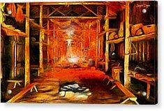 Old Cottage - Da Acrylic Print by Leonardo Digenio