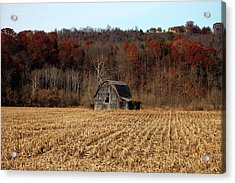 Old Country Barn In Autumn #1 Acrylic Print