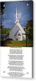 Old Country Church Acrylic Print by John Haldane
